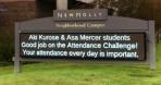 Aki Kurose and Asa Mercer Attendance Challenge