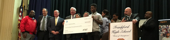 Frankford High School Recipient of AT&T Aspire Connect to Success Award!